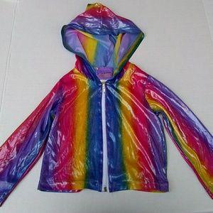 Other - Vintage Rainbow Zip Up Hoodie Jacket 4T